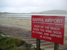 Barra airport panneau d'interdiction